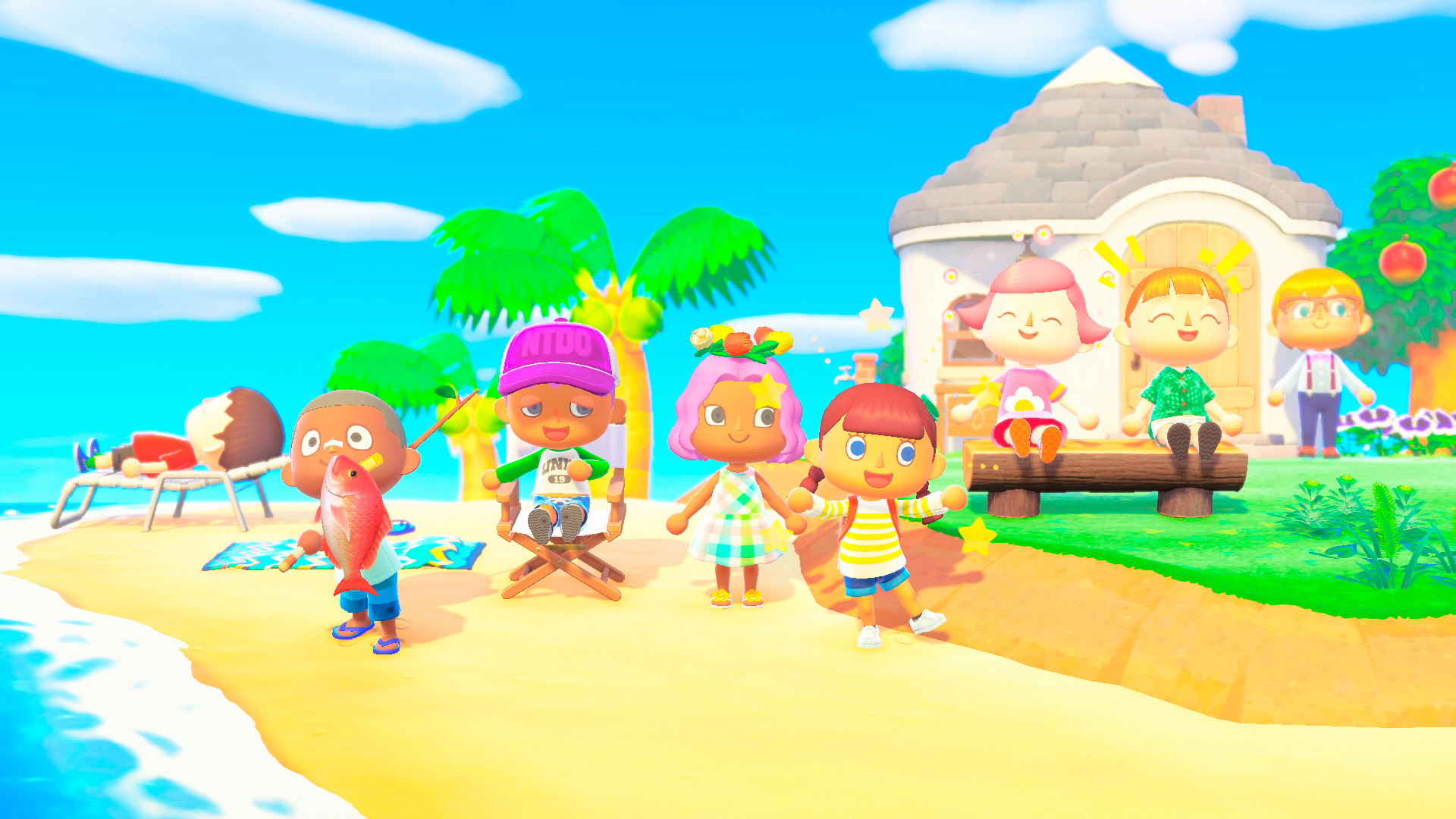 pastel animal crossing hd wallpaper
